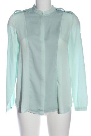 Mango Suit Hemd-Bluse türkis Elegant