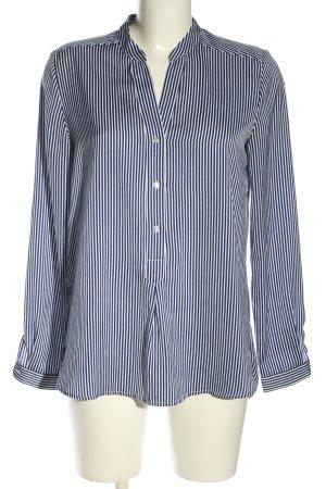Mango Suit Hemd-Bluse blau-weiß Streifenmuster Business-Look
