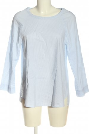 Mango Suit Hemd-Bluse weiß-blau Streifenmuster Casual-Look