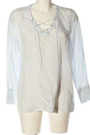 Mango Suit Hemd-Bluse weiß-blau Allover-Druck Casual-Look