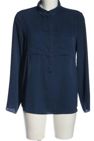 Mango Suit Hemd-Bluse blau Casual-Look