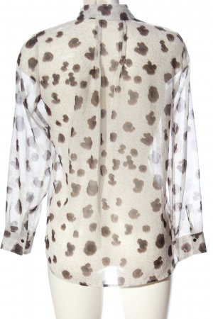 Mango Suit Hemd-Bluse creme-bronzefarben Allover-Druck Casual-Look