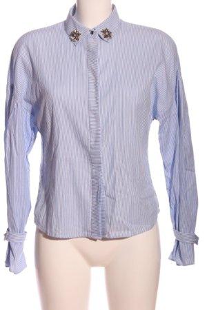 Mango Suit Hemd-Bluse blau Streifenmuster Casual-Look