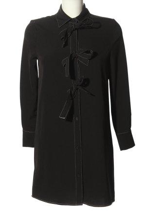 Mango Suit Hemdblusenkleid schwarz-weiß Casual-Look