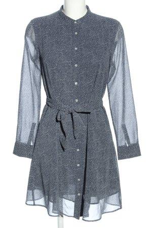 Mango Suit Hemdblusenkleid blau-weiß Casual-Look