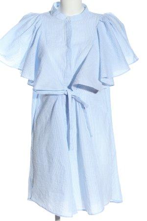 Mango Suit Hemdblusenkleid blau-weiß Streifenmuster Casual-Look