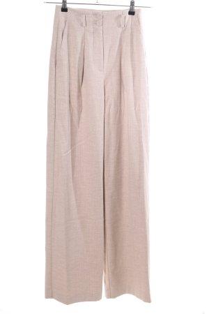 Mango Suit Hoge taille broek room gestreept patroon casual uitstraling