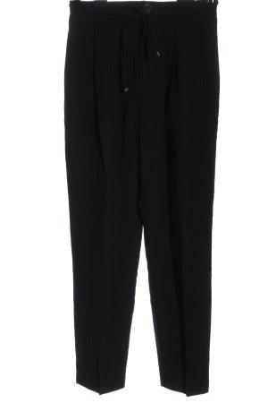 Mango Suit Pantalone a vita alta nero stile casual