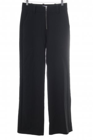 Mango Suit High-Waist Hose schwarz Casual-Look