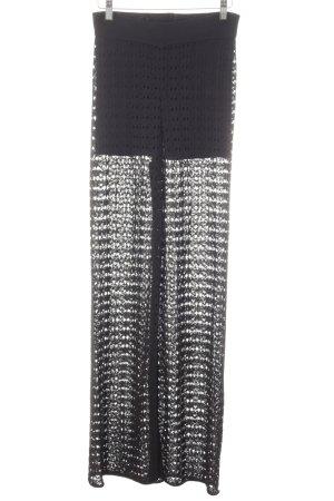 Mango Suit High-Waist Hose schwarz Elegant