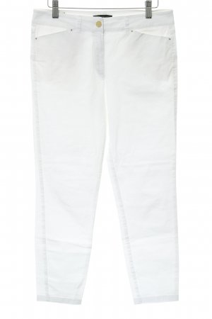 Mango Suit Hoge taille jeans wit-goud straat-mode uitstraling