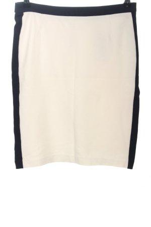 Mango Suit Jupe taille haute noir-crème style décontracté
