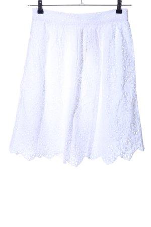 Mango Suit High Waist Rock weiß Blumenmuster Casual-Look