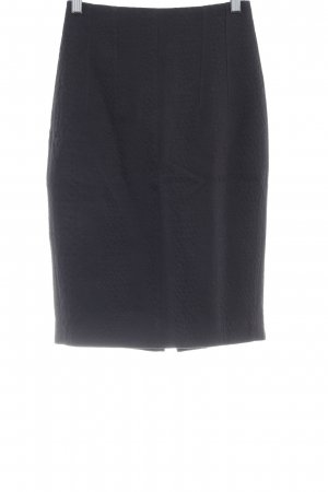 Mango Suit High Waist Rock schwarz abstraktes Muster Business-Look