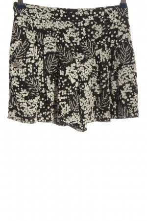 Mango Suit High-Waist-Shorts black-natural white allover print casual look