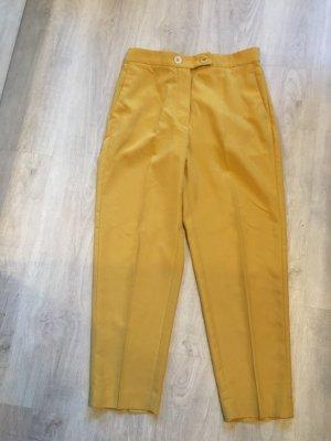 Mango Suit Pantalon taille haute jaune