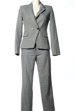 Mango Suit Tailleur-pantalon gris clair-blanc motif à carreaux