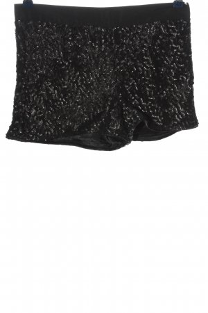 Mango Suit Hot Pants schwarz Glanz-Optik