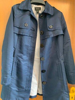 Mango Suit Veste longue bleu foncé