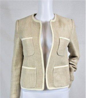 Mango Suit Jacke/Blazer/Baumwolle-Polyester/Beige/ Gr. 34/ Hervorragend!