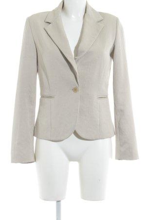 Mango Suit Jerseyblazer hellbeige Webmuster Business-Look