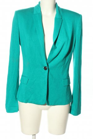 Mango Suit Jerseyblazer türkis Business-Look