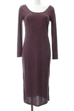 Mango Suit Jerseykleid brombeerrot Streifenmuster Casual-Look