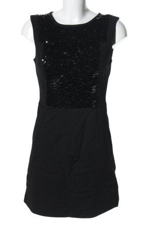 Mango Suit Jerseykleid schwarz Glanz-Optik