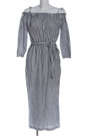 Mango Suit Jumpsuit schwarz-weiß Streifenmuster Casual-Look