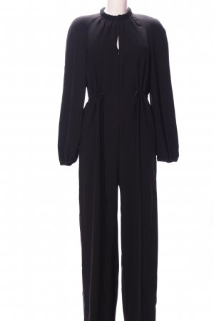 Mango Suit Jumpsuit schwarz Business-Look