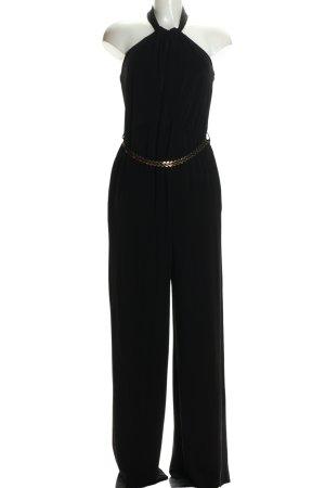 Mango Suit Jumpsuit schwarz klassischer Stil