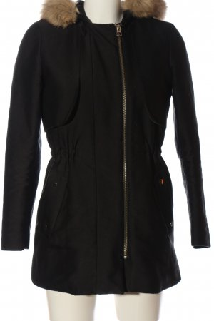 Mango Suit Manteau à capuche noir style décontracté