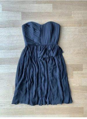 Mango Robe bandeau noir-bleu foncé
