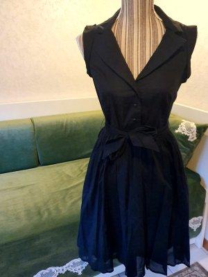 Mango suit Kleid schwarz Faltenkleid 36 S