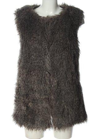 Mango Suit Kunstfellweste hellgrau Casual-Look