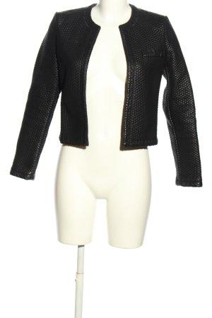 Mango Suit Kunstlederjacke schwarz Steppmuster Casual-Look