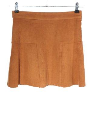 Mango Suit Spódnica z imitacji skóry jasny pomarańczowy W stylu casual