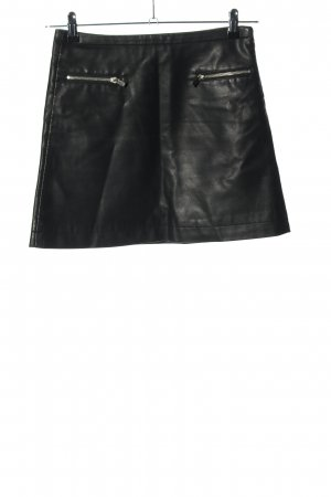 Mango Suit Faux Leather Skirt black-silver-colored casual look