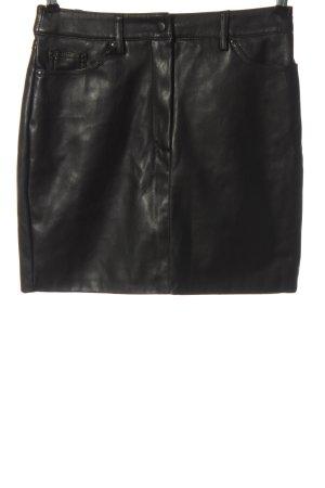 Mango Suit Kunstlederrock schwarz Casual-Look
