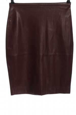 Mango Suit Kunstlederrock braun Casual-Look