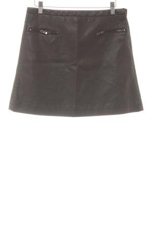 Mango Suit Spódnica z imitacji skóry taupe Metalowe elementy