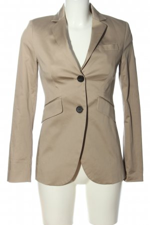 Mango Suit Long-Blazer goldfarben Business-Look