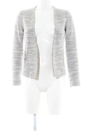 Mango Suit Kurz-Blazer weiß-hellgrau meliert Casual-Look