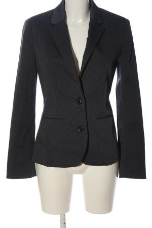 Mango Suit Kurz-Blazer schwarz-weiß Allover-Druck Business-Look