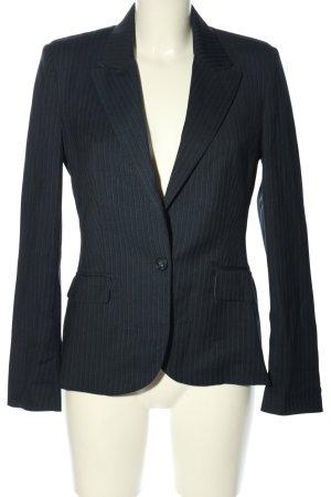 Mango Suit Kurz-Blazer blau Streifenmuster Business-Look