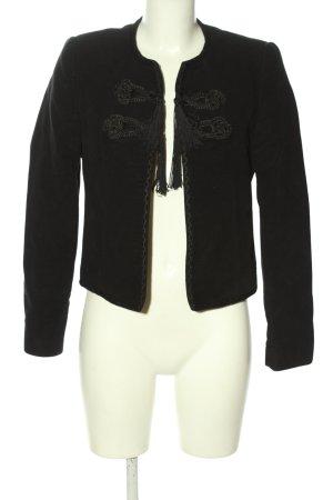 Mango Suit Kurz-Blazer schwarz Casual-Look