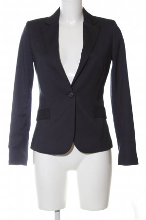 Mango Suit Kurz-Blazer schwarz Streifenmuster Business-Look