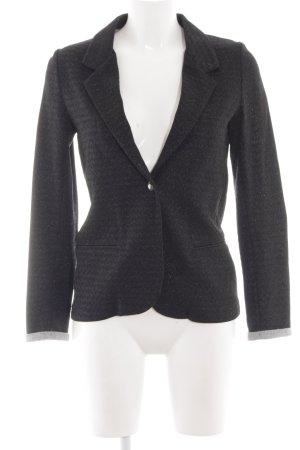 Mango Suit Kurz-Blazer schwarz-hellgrau meliert Business-Look