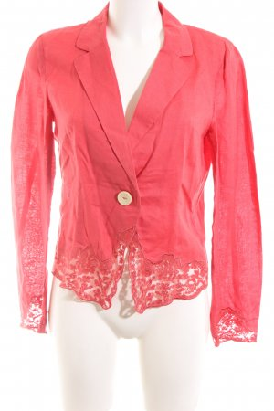 Mango Suit Kurz-Blazer rot Casual-Look