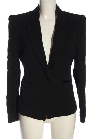 Mango Suit Kurz-Blazer schwarz meliert Casual-Look